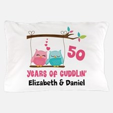 50th Anniversary 50 Years Owls Personalized Pillow