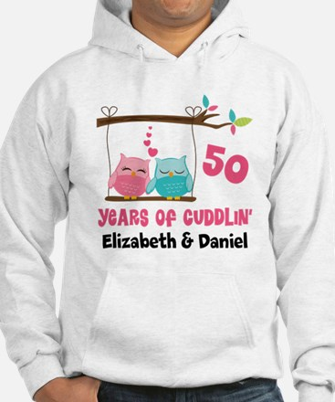 50th Anniversary 50 Years Owls Personalized Sweats