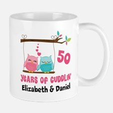 50th Anniversary 50 Years Owls Personalized Mugs
