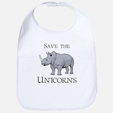 Save the Unicorns Baby Bib