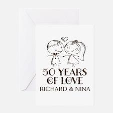 50th Wedding Anniversary Personalized Greeting Car