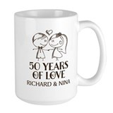 50th wedding anniversary Large Mugs (15 oz)
