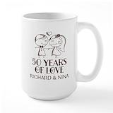 50th wedding anniversary Large Mugs (15 oz)