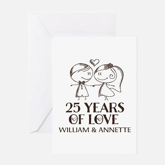25th Wedding Anniversary Personalized Greeting Car