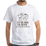 25th wedding anniversary Mens Classic White T-Shirts