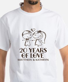20th Wedding Anniversary Personalized T-Shirt