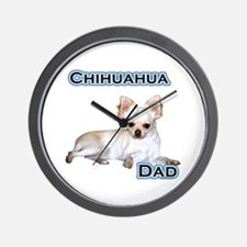 Chihuahua Dad4 Wall Clock