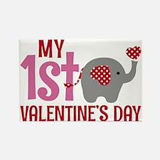 Funny Valentine elephant Rectangle Magnet