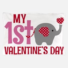 Cute First valentines day Pillow Case