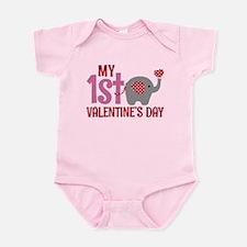 Elephant Girl's 1st Valentine's Day Body Suit