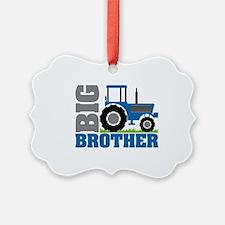 Blue Tractor Big Brother Ornament