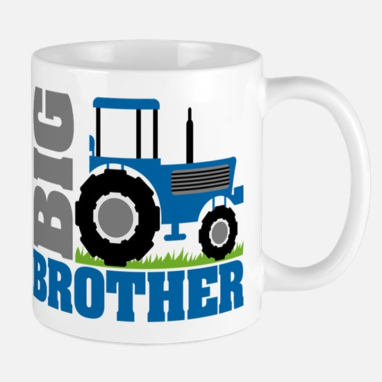Blue Tractor Big Brother Mugs