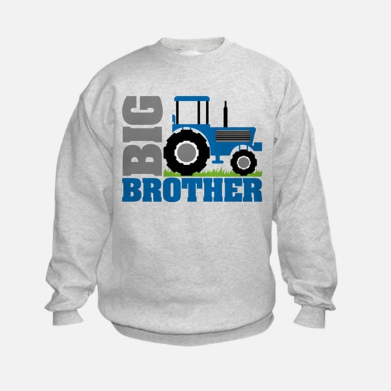 Blue Tractor Big Brother Sweatshirt