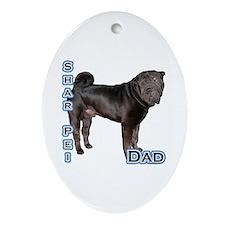 Shar Pei Dad4 Oval Ornament