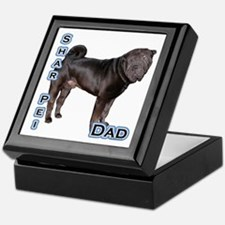 Shar Pei Dad4 Keepsake Box