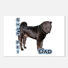 Shar Pei Dad4 Postcards (Package of 8)