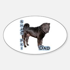 Shar Pei Dad4 Oval Decal