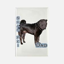Shar Pei Dad4 Rectangle Magnet (100 pack)