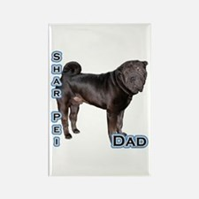 Shar Pei Dad4 Rectangle Magnet