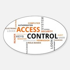 word cloud - access control Decal