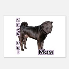 Shar Pei Mom4 Postcards (Package of 8)