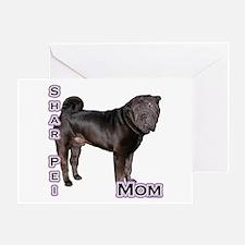 Shar Pei Mom4 Greeting Card