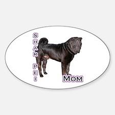 Shar Pei Mom4 Oval Decal