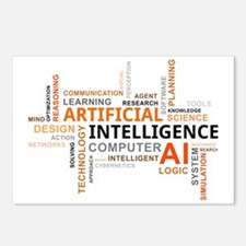 word cloud - artificial i Postcards (Package of 8)