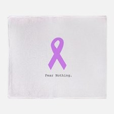Fear Nothing. Lavender Throw Blanket