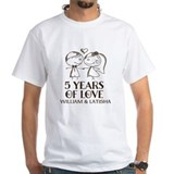 5th anniversary Mens Classic White T-Shirts