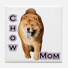 Chow Mom4 Tile Coaster