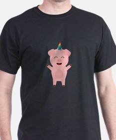Unicorn Pig with rainbow T-Shirt