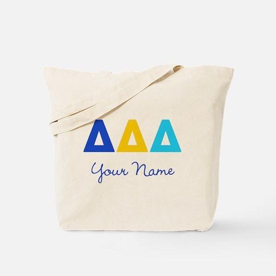 Delta Delta Delta Personalized Tote Bag