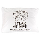 1 year together Pillow Cases