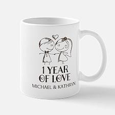 1st Wedding Anniversary Personalized Mugs
