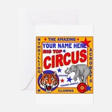 Vintage Circus Poster Greeting Cards