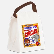 Vintage Circus Poster Canvas Lunch Bag