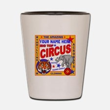 Vintage Circus Poster Shot Glass
