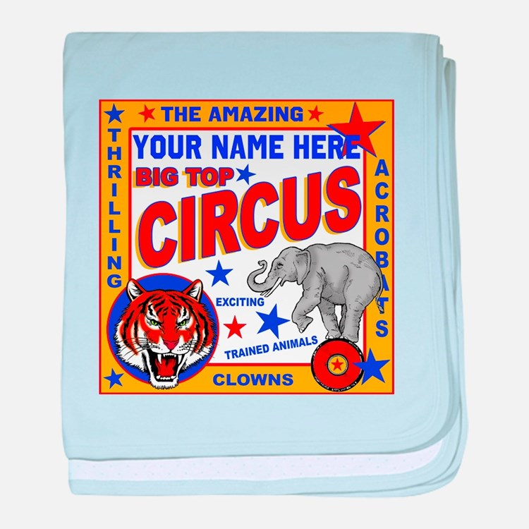 Vintage Circus Poster baby blanket