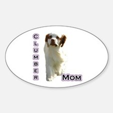 Clumber Mom4 Oval Decal