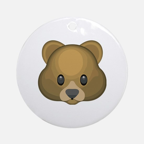 Cute Bear Round Ornament