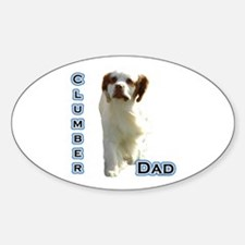 Clumber Dad4 Oval Decal
