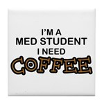 Med Student Need Coffee Tile Coaster