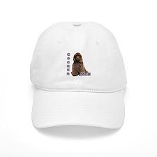 Cocker(brn) Mom4 Baseball Cap