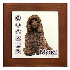 Cocker(brn) Mom4 Framed Tile