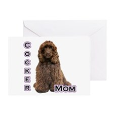 Cocker(brn) Mom4 Greeting Card