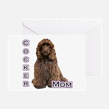 Cocker(brn) Mom4 Greeting Card