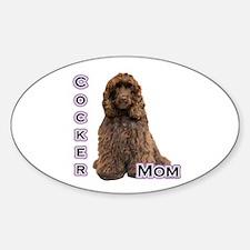 Cocker(brn) Mom4 Oval Decal