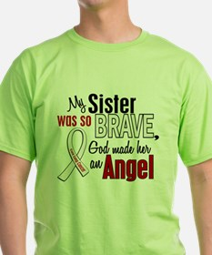Angel 1 SISTER Lung Cancer T-Shirt