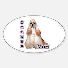 Cocker(buff) Mom4 Oval Decal